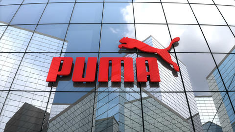 Editorial, Puma SE logo on glass building Animation