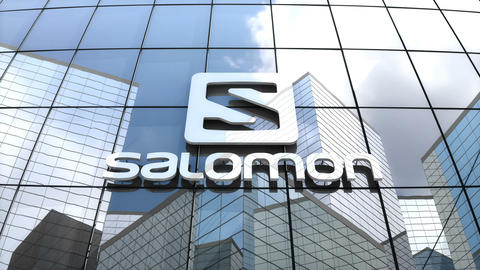 Editorial, Salomon Group logo on glass building Animation