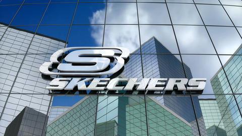 Editorial, Skechers USA Inc. logo on glass building Animation