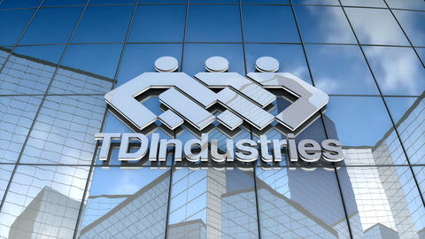 Editorial, TDIndustries logo on glass building Animation