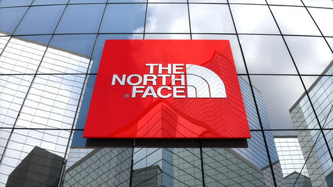 Editorial, The North Face, Inc. logo on glass building Animation