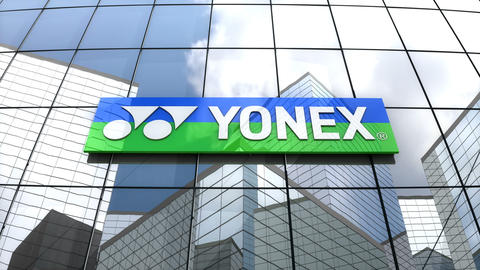 Editorial, Yonex Co., Ltd. logo on glass building Animation