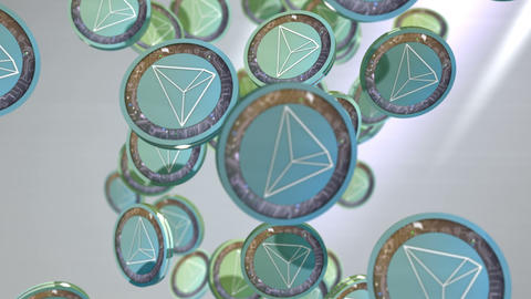 Tron coin, Digital currency animation Animation