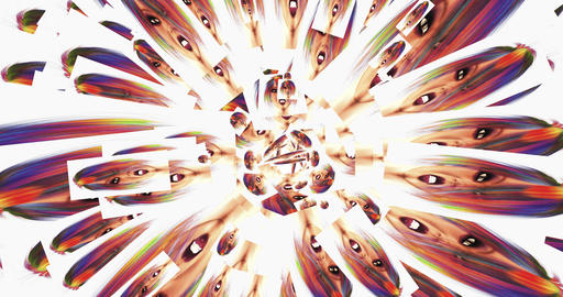 Digital Animation of kaleidoscopic Faces Animation