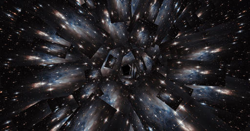 Digital Animation of a kaleidoscopic Space Scene - Elements of this Video by Animation