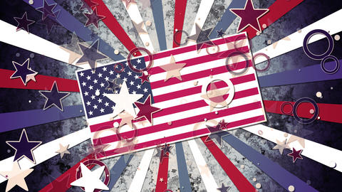 Grunge Patriotic Stars and Stripes GIF