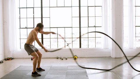 Athletic Man Working Out GIF