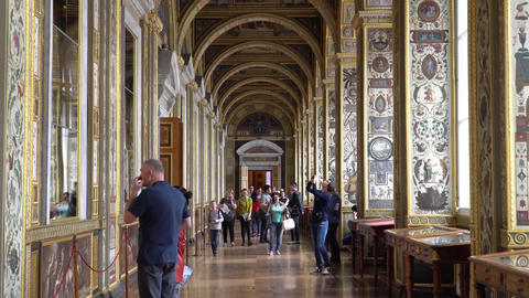 St. Petersburg, Peterhof, Russia, June 2018: Winter Palace. The Raphael Loggias Footage