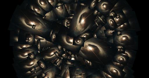 Digital Animation of a kaleidoscopic Space Scene -… Stock Video Footage