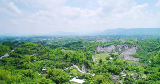 aerial of tainan erliao scenery Stock Video Footage
