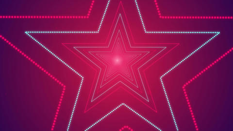 Star Shape Seamless Looped Tunnel Zoom Romantic Background for your event, title Animation