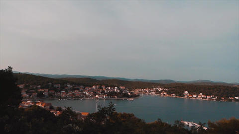 Timelapse View of small town called Tisno Archivo