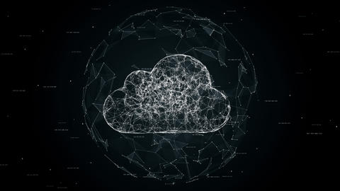 Cloud computing concept animation Animation