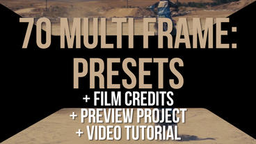 Multiframe Presets #2 프리미어 프로 템플릿