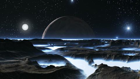 Sunrise Illuminates Alien Planet Animation