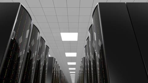 Rows of server racks in cloud datacenter, loop CG動画素材