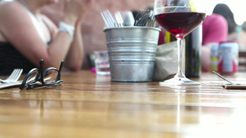 Cafe restaurant talking talk Footage