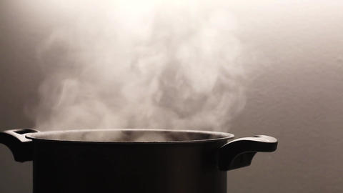Pot cooking steam steaming hot Live Action