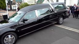 Shot of a hearse for funeral service ビデオ