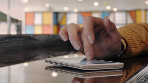 Close Up Of A Womans Hand Using A Smartphone Footage