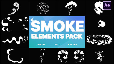 2D FX Smoke Elements After Effects Template