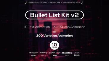Bullet List Kit v2 Motion Graphics Template