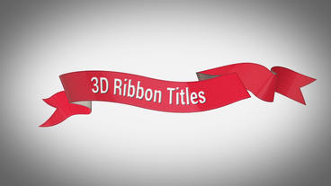 3D Ribbon Titles After Effectsテンプレート