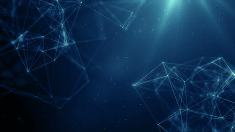 Plexus abstract network business technology science background loop CG動画素材