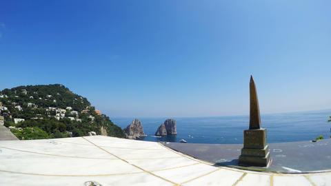world famous Capri sea stacks Live Action