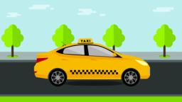 Booking taxi. Taxi service concept Vector