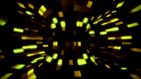 3D Gold Sci-Fi Torus AI - Arificial Intelligence - VJ Loop Background V2 Animation