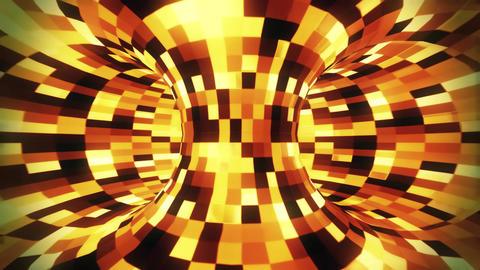3D Gold Sci-Fi Torus AI - Arificial Intelligence - VJ Loop Background Animation