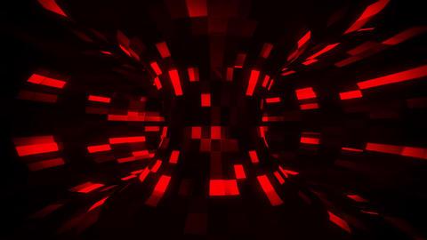 3D Red Sci-Fi Torus AI - Arificial Intelligence - VJ Loop Background Animation