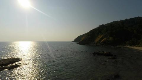 sun over tropical bay Footage