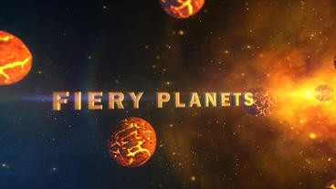 Fiery Planets - Dying Planets And Supernova Logo Opener stock footage