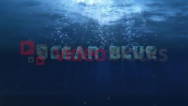 Ocean Blue - Underwater Logo Opener stock footage