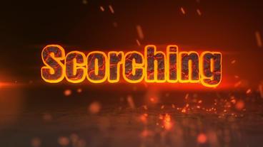 Scorching - Fiery Sparks Logo Revealer stock footage