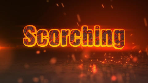 Scorching - Fiery Sparks Logo Revealer After Effects Template