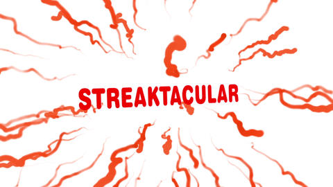 Streaktacular - Streaks on a white background and particle explosion After Effects Template