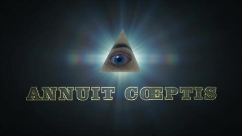 Annuit Coeptis - Dollar Bill Illuminati Pyramid Logo Stinger After Effects Template
