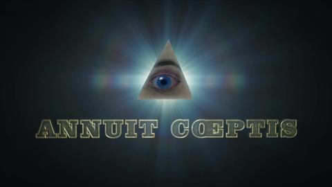 Annuit Coeptis - Dollar Bill Illuminati Pyramid Logo Stinger After Effectsテンプレート