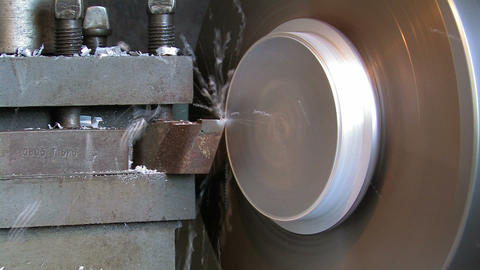 Production of an Aluminum Detail on the Lathe Live Action