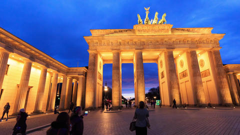 Berlin Timelapse - Brandenburg Gate Hyperlapse - Architecture Landmark GIF