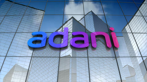 Editorial, Adani Group logo on glass building Animation
