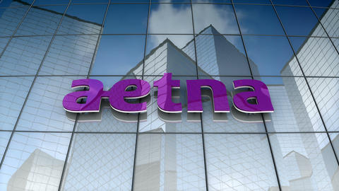 Editorial, Aetna Inc. logo on glass building Animation
