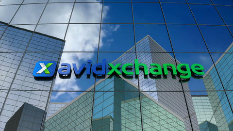 Editorial, Avidxchange logo on glass building Animation