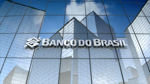 Editorial, Banco do Brasil S.A. logo on glass building Animation