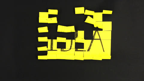 Idea sticky notes paper wind notes Footage