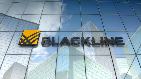 Editorial, Blackline logo on glass building Animation