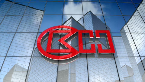 Editorial, CK Hutchison Holdings Limited logo on glass building Animation